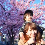桜,子供,母
